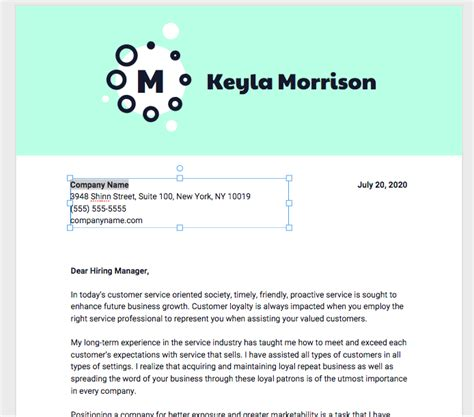 how to write a cover letter for personal assistant 10 cover letter templates and expert design tips to