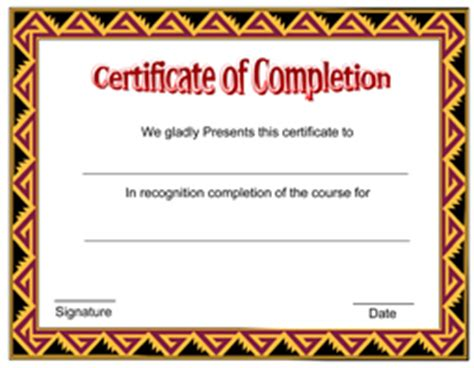 sle certificate of completion template pin gift certificates the present pictures