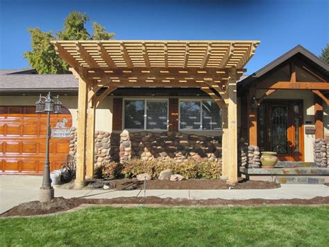 More Shade Plan: DIY Solid Cedar Wood Cantilevered Pergola