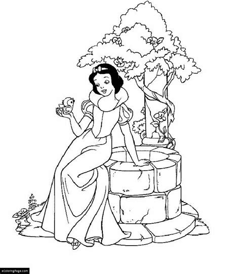 snow princess coloring pages disney princess snow white coloring page printable