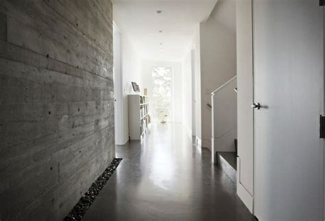 flur gestalten betonoptik wandfarbe mit betonoptik wandgestaltung flur plus