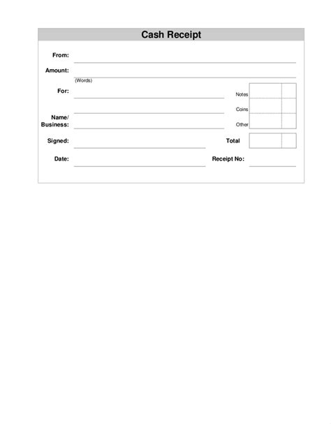 printable business receipt template blank receipt template mughals