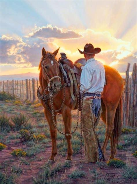 fotos de vaqueros a caballo vaqueros pintura animales caballo pinterest
