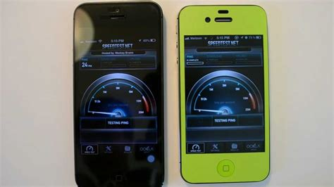 iphone 5 vs iphone 4s wifi speed test