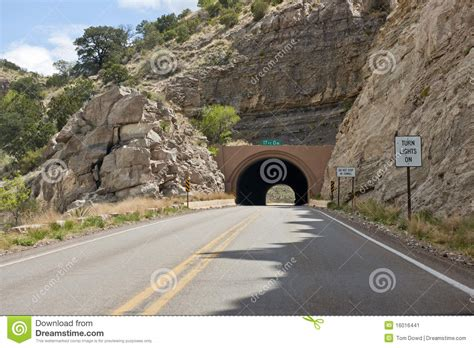 the tunnel through time a new route for an journey books route par le tunnel de montagne image stock image du