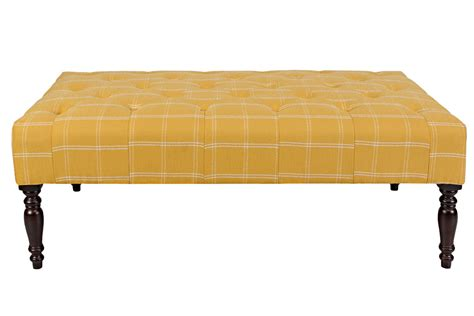 yellow ottoman tufted cocktail yellow ottoman at gardner white
