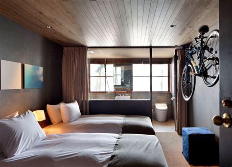 outstanding modern hotel design in japanese bedroom industrial style hotel cycle in japan interiorzine