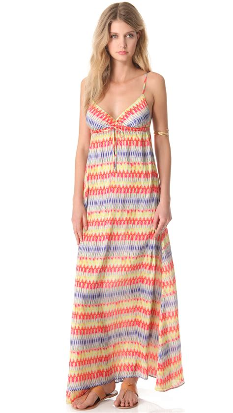 Maxi Dress Cover Up by Pilyq Kyla Cover Up Maxi Dress In Multicolor Lyst