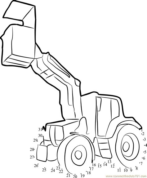 printable dot to dot tractor tractor with trolley dot to dot printable worksheet