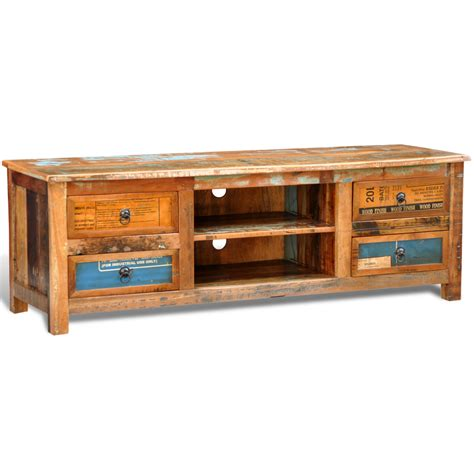 Recycled Timber Tv Cabinet by Vidaxl Co Uk Reclaimed Wood Tv Cabinet Tv Stand 4 Drawers