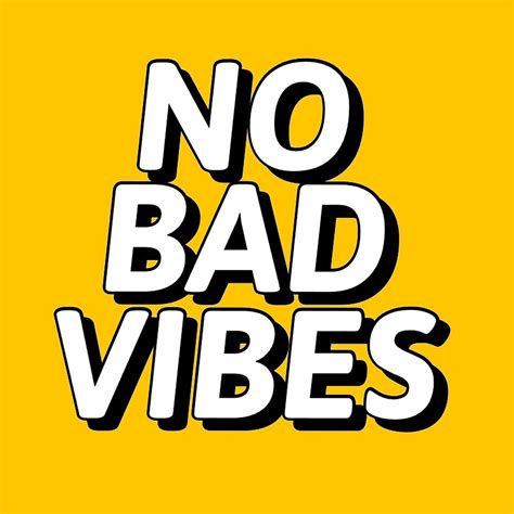 No Bad Vibes quot no bad vibes quot by mallsd redbubble