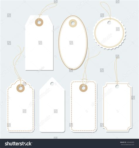 gift vector label elements webbyarts set of various gift tags labels paper labels isolated