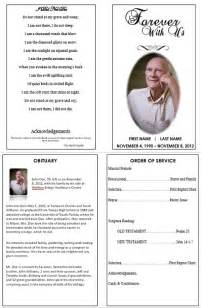 Memorial Service Program Templates memorial service program template l vusashop