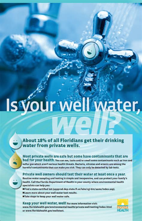 design guidelines for drinking water systems private well testing florida department of health