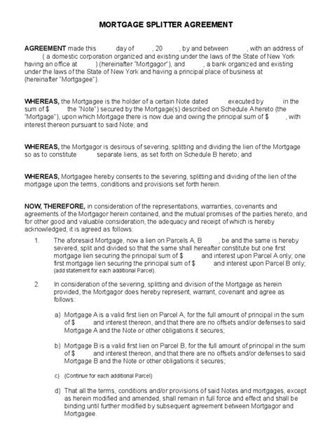 mortgage agreement template mortgage agreement form 19 free templates in pdf word