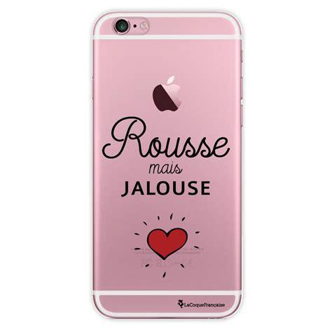 jalousie transparent coque transparente rousse mais jalouse pour iphone 6
