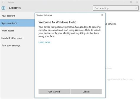 install windows 10 after download how to setup windows hello in windows 10 windows10pro net