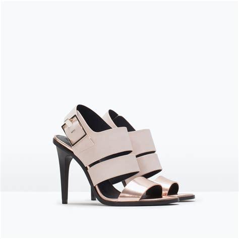 zara heeled sandals zara trf high heel sandals trf high heel sandals in pink