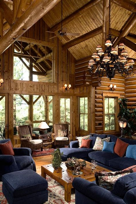Lodge Living Room Decor by Log Cabin Decor Ideas Log House Home Decorations And Accessories