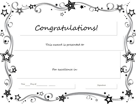 printable certificate template free printable certificates templates word sle