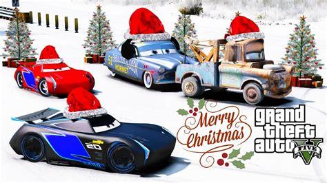 gta  disney cars christmas racing mod jackson storm   hudson merry christmas happy
