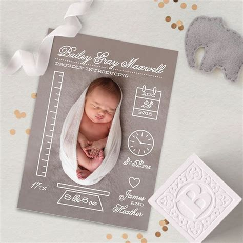 new born card template 25 best ideas about baby announcement cards on