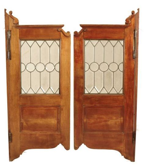 Antique Saloon Doors With Leaded Glass Glass Saloon Doors