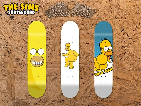 skateboard deck design the sims skateboard decks design mad potter