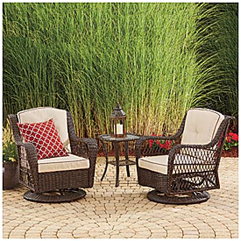 wilson and fisher wicker patio furniture wilson fisher 174 barcelona 3 resin wicker glider
