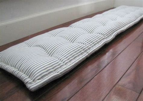 custom bench cushions 25 best ideas about ticking stripe on pinterest striped bedding farmhouse bedrooms
