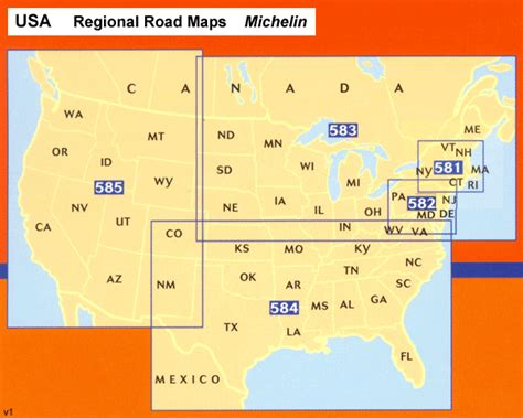 michelin maps usa western usa south western canada michelin regional map