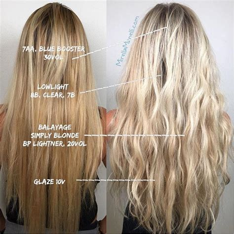 hair coloring formulas for going blonde formulation post 7aa blue booster 30vol balay simply
