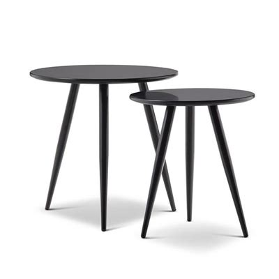 Zetta Set by Zetta 2 Side Table Set Black Style Sourcebook