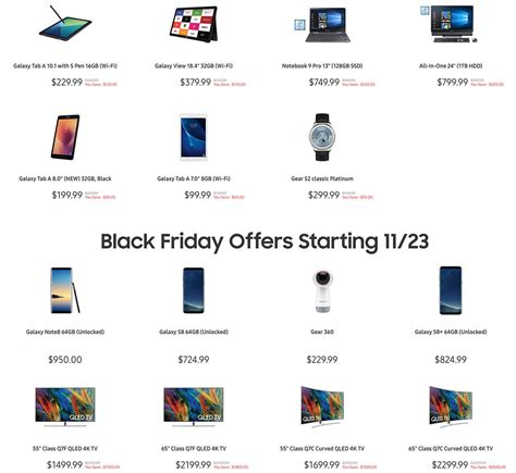 samsung black friday deals on tvs phones may 2019 finder