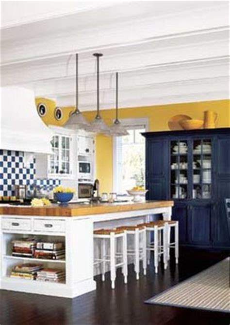 Blue And Yellow Kitchen by Finer Consigner Tried And True Happy Color Schemes