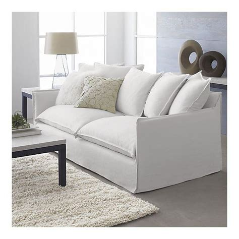 White Slipcovered Sofas by Crate Barrel Oasis Sofa Look 4 Less