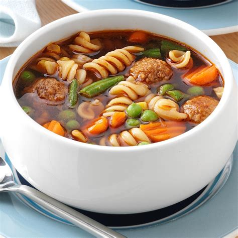 veggie meatball soup for 3 recipe taste of home
