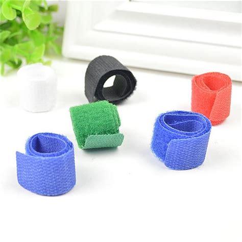 Velcro Cable Ties Tali Pengikat Kabel Klip Merapikan Penjepit tali perekat kabel menjadikan kabel lebih rapi dan