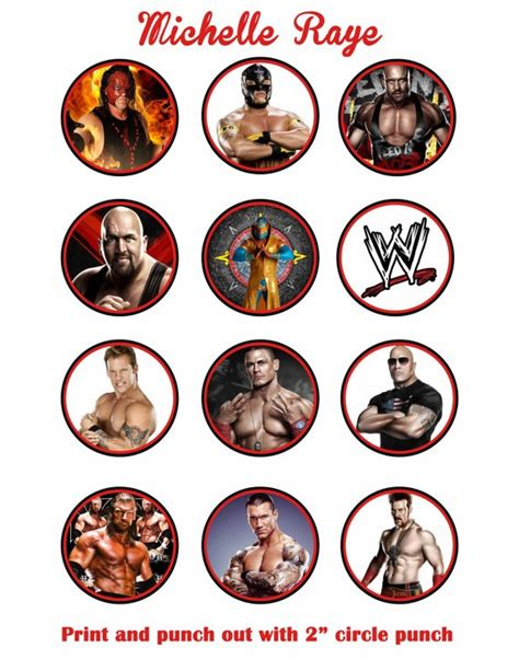 printable john cena birthday cards wwe printable cupcake toppers printable wwe cupcake