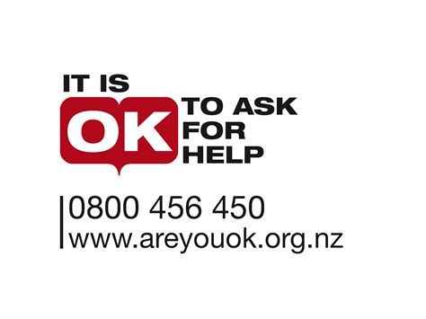 what is an ask it is ok to ask for help logo with phone number it s