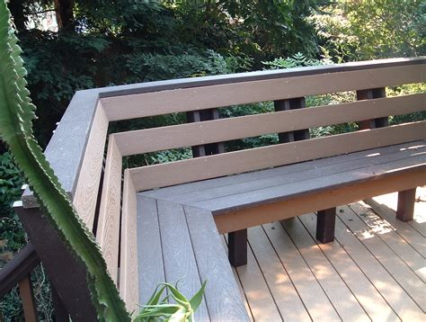 deck with bench built in deck benches with backs home design ideas loversiq