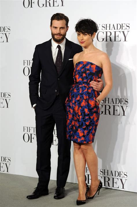 fifty shades of grey film premiere london jamie dornan and wife amelia warner bring the glamour at