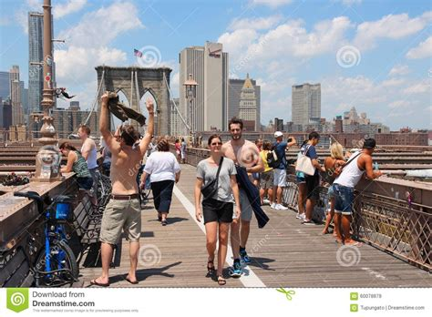 famous people that live in new york brooklyn bridge editorial stock image image 60078879