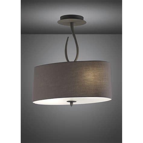 mantra m3690 lua semi ceiling 2 light ash grey