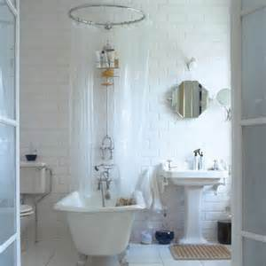 Freestanding Bath Shower Curtain Bath Central Classic Bathroom Decorating Ideas