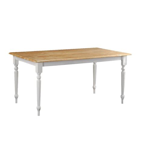 boraam white and farmhouse dining table 70369