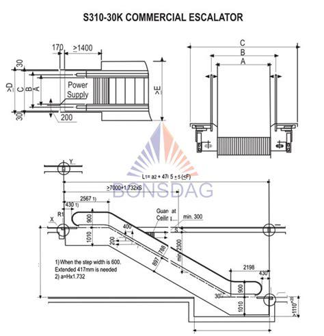 escalator section image gallery escalator dimensions