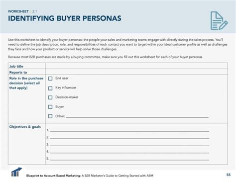 Ideal Client Profile Worksheet by How To Define Buyer Personas For Account Based Marketing