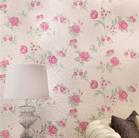 floral wallpaper for walls beibehang papel de parede 3d wall paper flower romantic