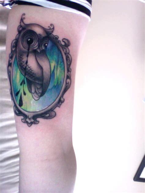 camille rose garcia tattoo green crayon my camille garcia owl sketch pop